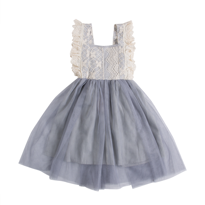 Toddler Kids Baby Girl Floral lace dress 2017 new arrival fashion Summer Bowknot Party backless Dress Sundress Clothes Age 2-7Y 2017 new summer children girl long sleeve lace dress kids clothes cotton child party princess tank girl dress sundress age 2 10y