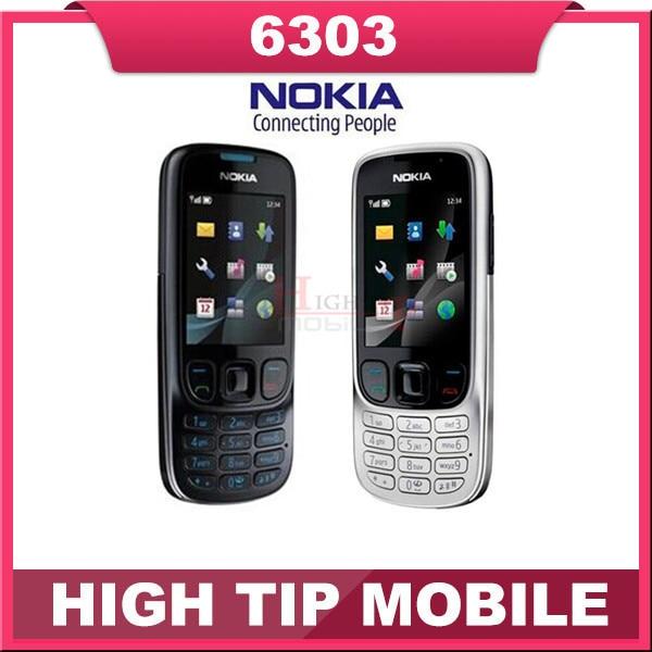 Оригинал Unlcoked Nokia 6303 classic мобильный телефон гарантия 1 год Восстановленное телефон Быстрая Свободная Перевозка Груза