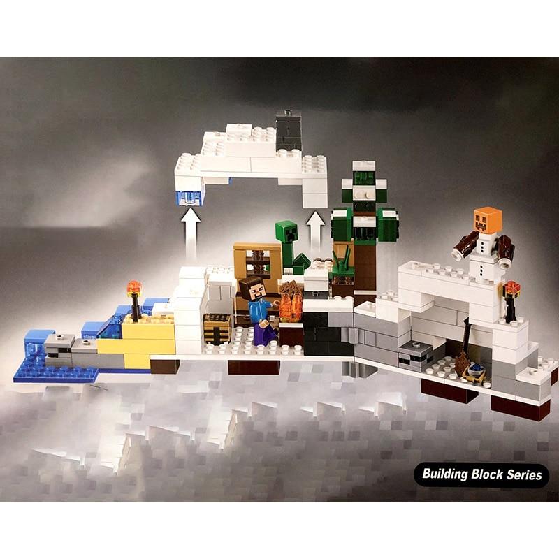 Bela Compatible Legoe Minecrafte Ice My World Zombies Building Blocks - Juguetes de construcción - foto 3