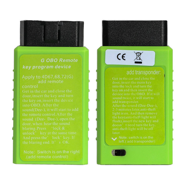 For Toyota G Chip  H Chip Vehicle OBD Remote Key Programming Device For Toyota G and H OBD Remote Key Programmer