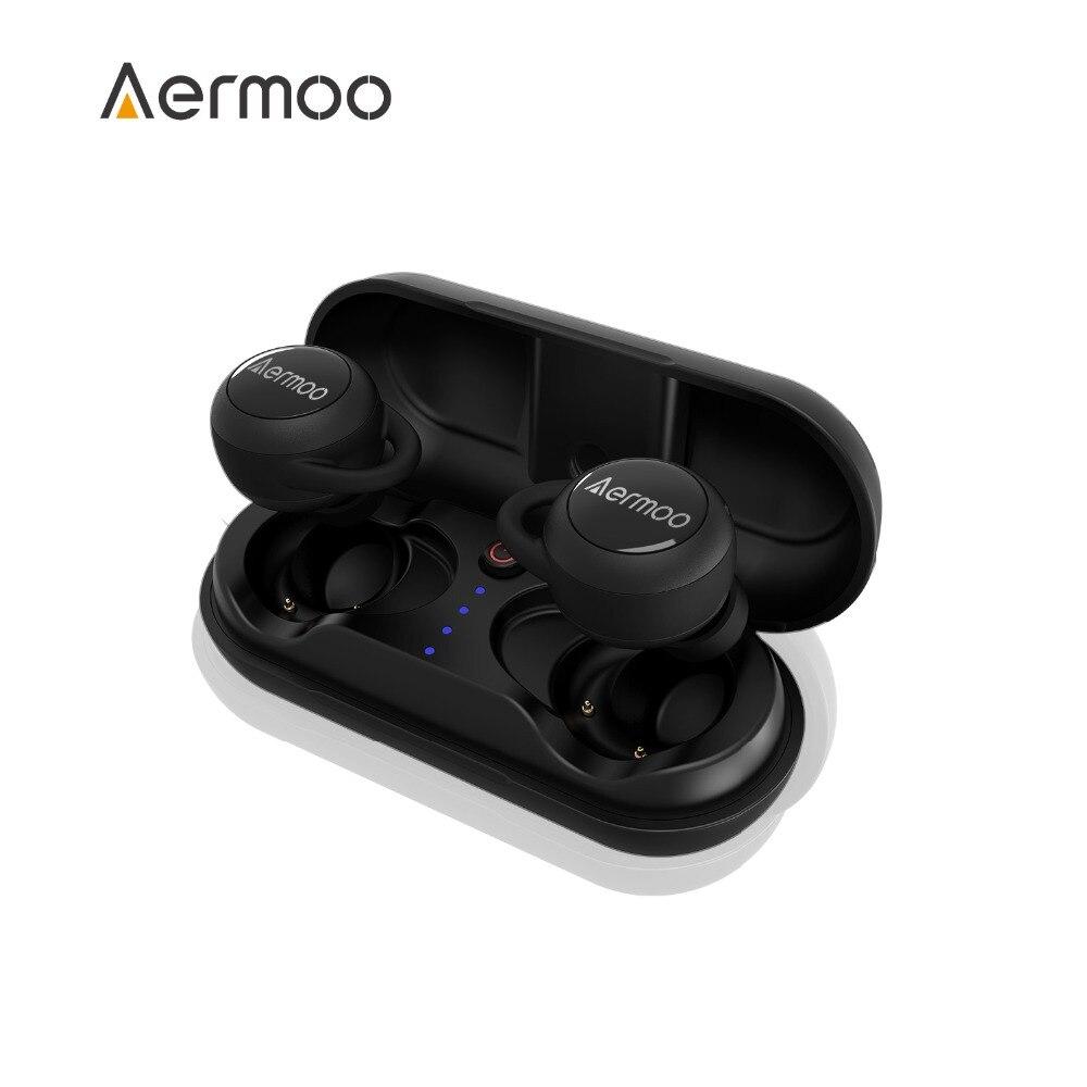Беспроводной headsphones, aermoo B3 Bluetooth headsphones V5.0 IPX7 Водонепроницаемый наушники, СПЦ стерео Беспроводной наушники в ухо
