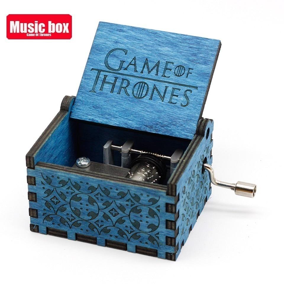 Горячая античная резная деревянная рукоятка Симпсоны игра трон музыкальная шкатулка подарок на день рождения Шкатулка анонимичность украшения Звездные войны - Цвет: Game of Thrones
