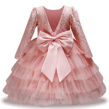 a0a8d4bef Vestidos para niñas vestido de fiesta para niñas pequeñas elegante vestido  de princesa flor niña vestido de boda niños ropa 2 3 .