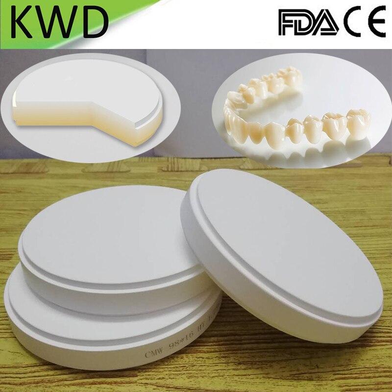 1 Piece A2 A3 Zirconia Block OD98mm 22 25mm Dental Lab Zirconium Disk for CAD Cam