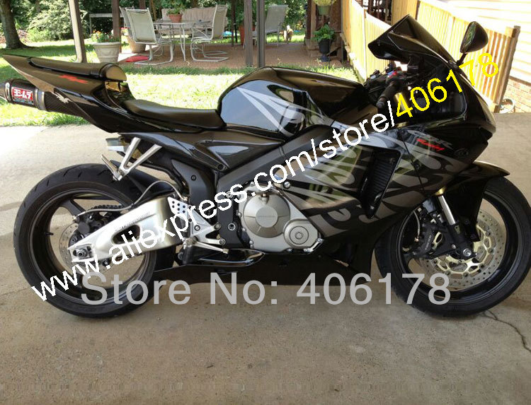 Hot Sales,Aftermarket Fairings For Honda CBR600RR F5 2005 2006 CBR 600 RR 05 06 CBR 600RR Black Fairing Kit (Injection molding)
