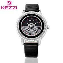 K-1278 KEZZI Marca Moda Mulheres Strass Relógio de Luxo de Quartzo Das Senhoras do Relógio com Movimento Japão Relogio feminino Presente KZ30