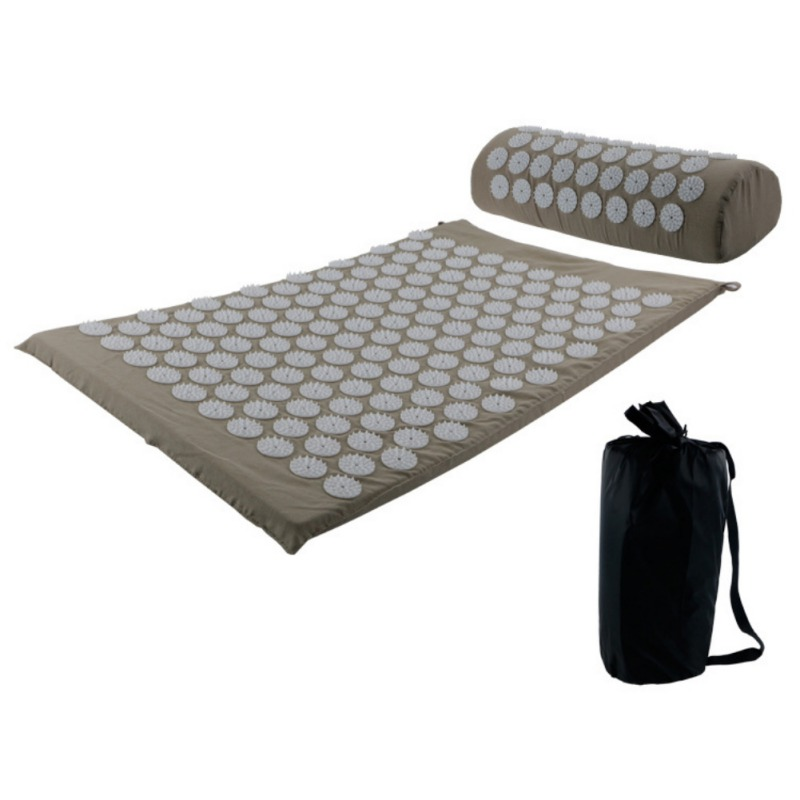 Acupressure massages mat which relieves stress and body pain including back neck and foot 9