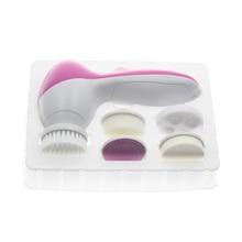 5 В 1 Электрические Тела Лица Уход За Кожей Кисть Очиститель набор Инструментов Продукт Умывания Скраб Для Лица Clean SPA Beauty Massager