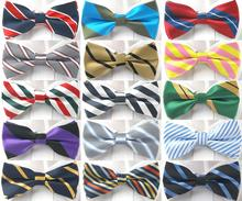 цена на Stripe Bow tie Pre-tied Tuxedo Necktie Woven Groom Wedding Mariage Party BowTie Neckwear more than 20 style BOM11