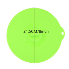 8 inch Silicone Boil Over Spill lid / Preservation lid / Pan Cover / Oven Safe with Instead of plastic wrap