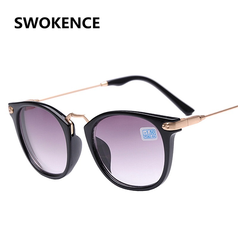 SWOKENCE Prescription -1.0 -1.5 -2.0 -2.5 -3.0 -3.5 -4.0 Finished Myopia Sunglasses Men Women Nearsighted Optics Eyewear F152