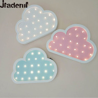 Jiaderui Cloud Led Night Light Wooden For Kids Children Gifts Table Bedside Lamp Bedroom Living Room