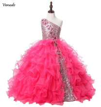Real Photo lace dress for the girl princess prom dresses kids gowns tulle girls beaded