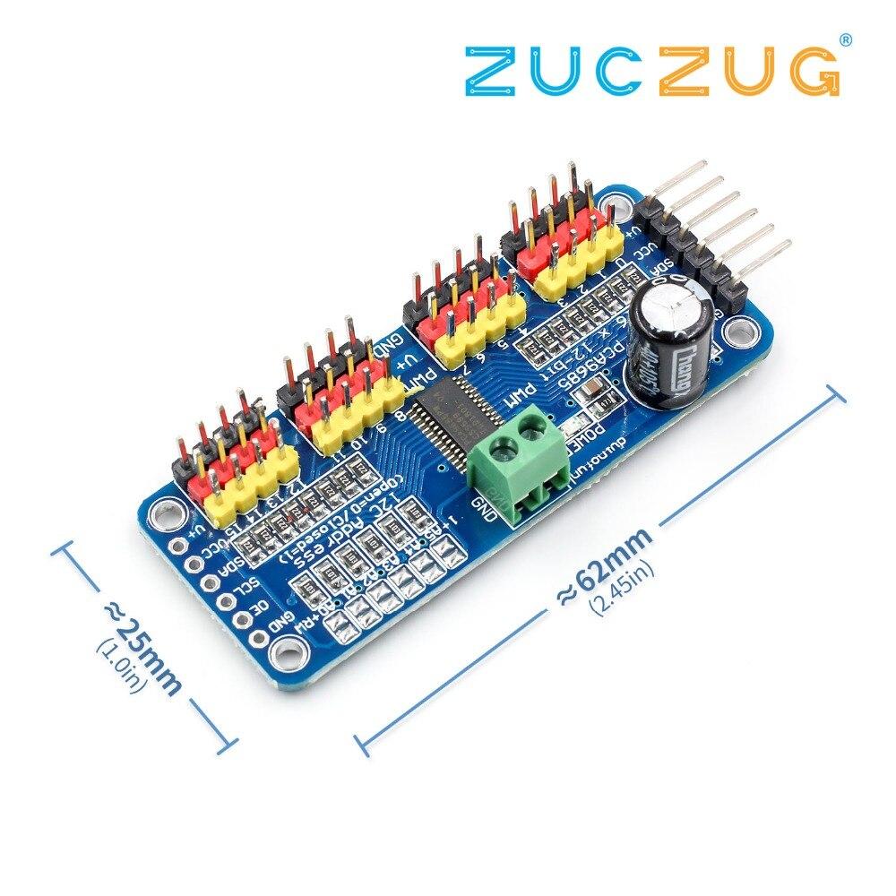 16 Channel 12-bit PWM/Servo Driver-I2C Interface PCA9685 Module Raspberry Pi Shield Module Servo Shield