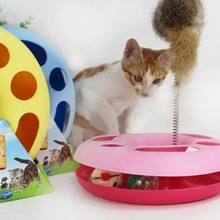 Pet products Mice Training Amusement Disk Multifunctional Disk Play Activity Funny hamsters Pet Cat Toy Random Color