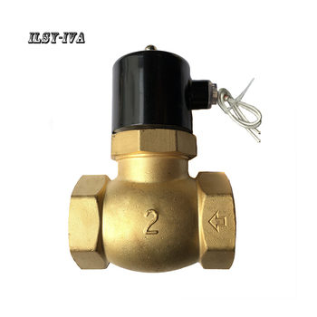 цена на G2 DN50 DC24V two way brass Normally closed high-temperature high-pressure steam solenoid valve