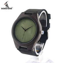 BOBO BIRD V F04 Natural Minimalism Luxury Simplicity Bamboo Wooden Watches for Men Leather Quartz Watch