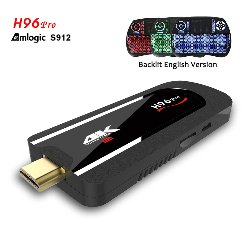 H96 Pro Mini PC Android 7.1 Smart TV BOX Amlogic S912 Octa Core 2G 8G H.265 4K Smart Med ...