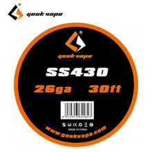 30ft Original GeekVape SS430 Standard Wire DIY Accessory 1.4/0.91ohm Standard Single Wire for Electronic Cigarette DIY