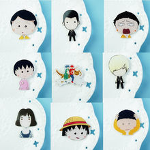 Low Price New Cheap Fashion Broochs Harajuku Lovely Wild Cartoon Acrylic Brooch People for Jewelry Accessories Women Girl Gift(China)