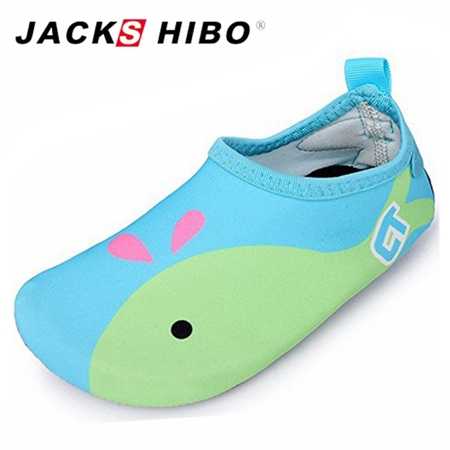 JACKSHIBO Cute Kids Sea Water Shoes Anti-slip Barefoot Shoes Kids Swimming Shoes for Kids Sneakers Aqua Shoes Outdoor Sandals