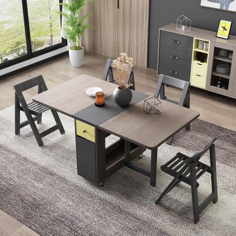 Fashion folding dining table furniture yemek masasi ...