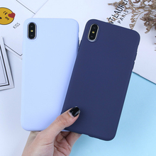 Luxury Candy Solid Color Phone Case For iPhone X Silicone Soft TPU Matte Cases For iPhone XS Max XR 7 8 6 6S Plus 5 5S SE Covers цена и фото