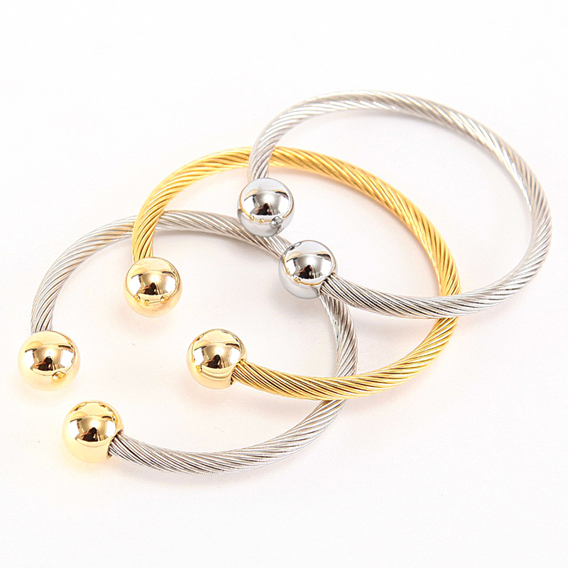 Fashion Women Bracelets & Bangles Colour Gold Stainless Steel Bracelet Fashion Fine Jewelry Pulseras
