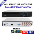 4CH 1080P 960P/720P HDCVI DVR 4CH Real-time Recording HDCVI CVR HDMI+VGA Support Remote View For HD CVI Camera