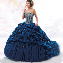 Quinceanera Dresses Taffeta Best Seller Custom Made Beading Sequins Gowns with Jacket Crystal 2017 Ball Gown Dress