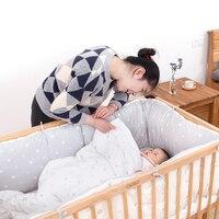 HOUSBAY кашне набор реактивной печатные постельные принадлежности 100% хлопок 4 шт. детские постельные принадлежности набор с мультяшным Бампер
