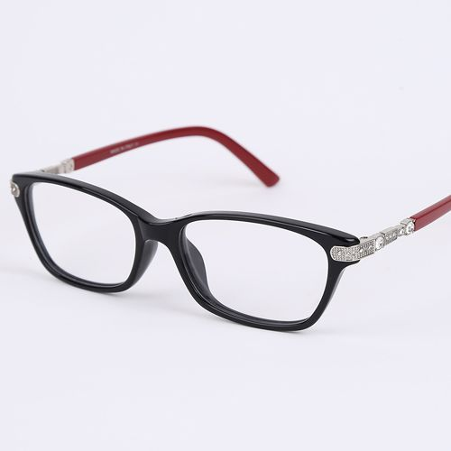 2016 de Alta qualidade Strass mulheres frame ótico Prescrição vidros duplos cores óculos de moda frame de espetáculos BV4087