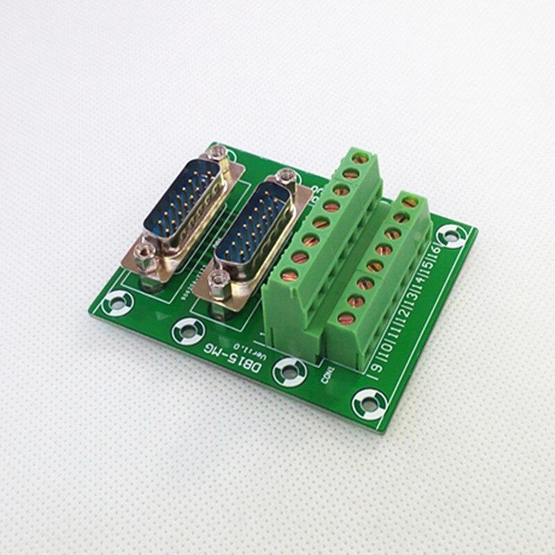 D SUB DB15 Double Male Header Breakout Board  Terminal Block  Connector.|terminal block|connector terminal block|block block - title=