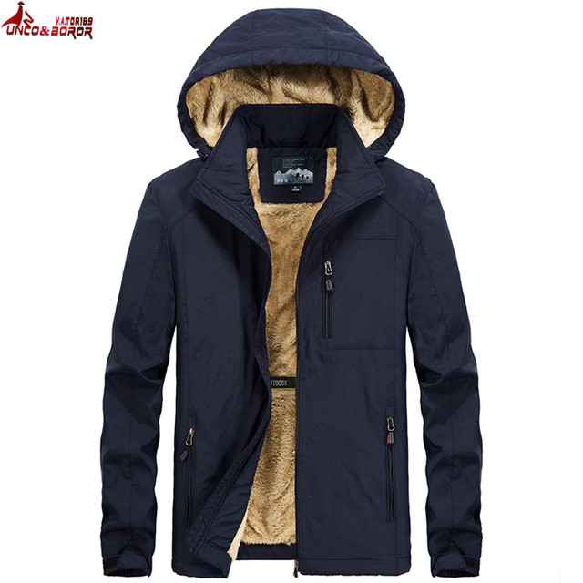 Brand winter coat men warm wool liner casual men`s windbreaker bomber jacket Detachable Hooded parka coat men clothes