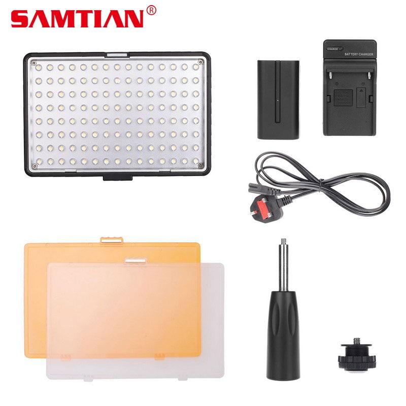SAMTIAN TL-160S LED Video Light On-camera Light 11W CRI85 5500K/3200K Photo Lamp LED Panel Light for Photography Shoot осветитель sunpak led 30 video light