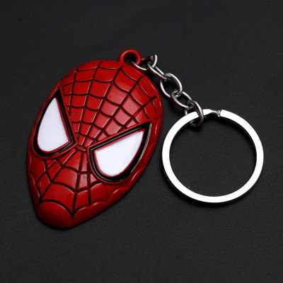 1 pçs brinquedos processo metal batman ouro preto logotipo crânio chaveiro máscara chaveiro brinquedos batman chaveiro chaveiro presente chave brinquedos