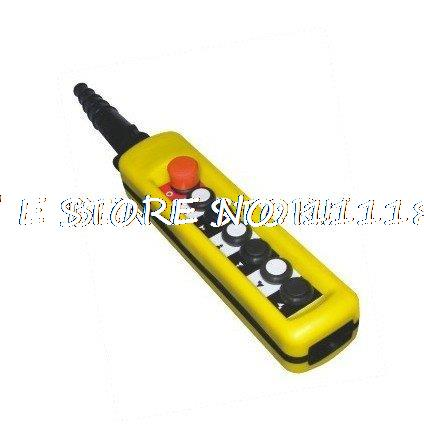 2 Speed Control Hoist Crane 6 Pushbuttons Pendant Control Station With Emergency Stop 2 speed control hoist crane 6 pushbuttons pendant control station with emergency stop