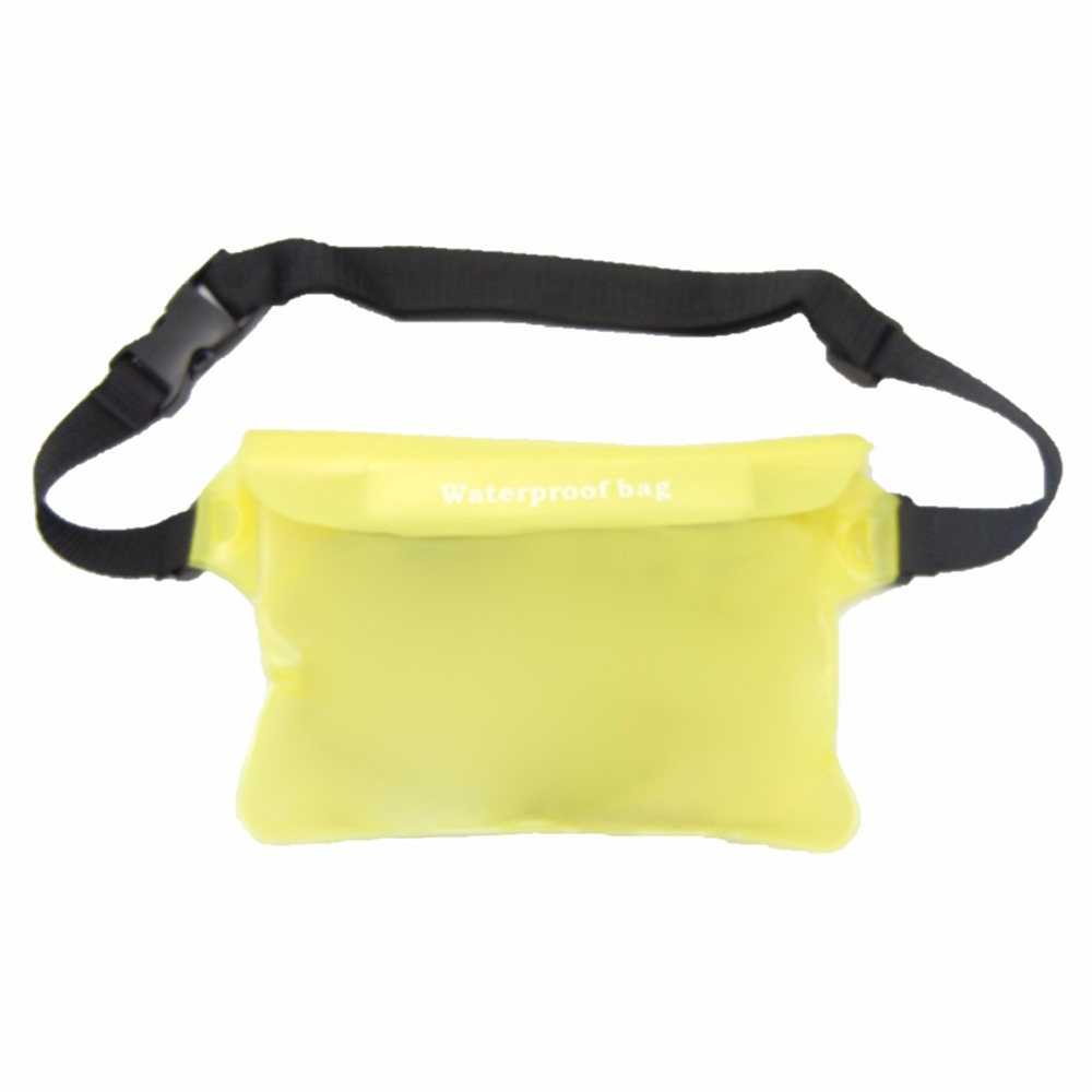d4551af67761 TEXU Silicone Waterproof waist bag man women pouch 22cm   15cm (yellow)