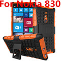For Nokia Microsoft Lumia 830 N830 Phone Case 2in1 Dual Layer Kickstand Heavy Duty Armor Shockproof Hybrid Silicone Cover Case