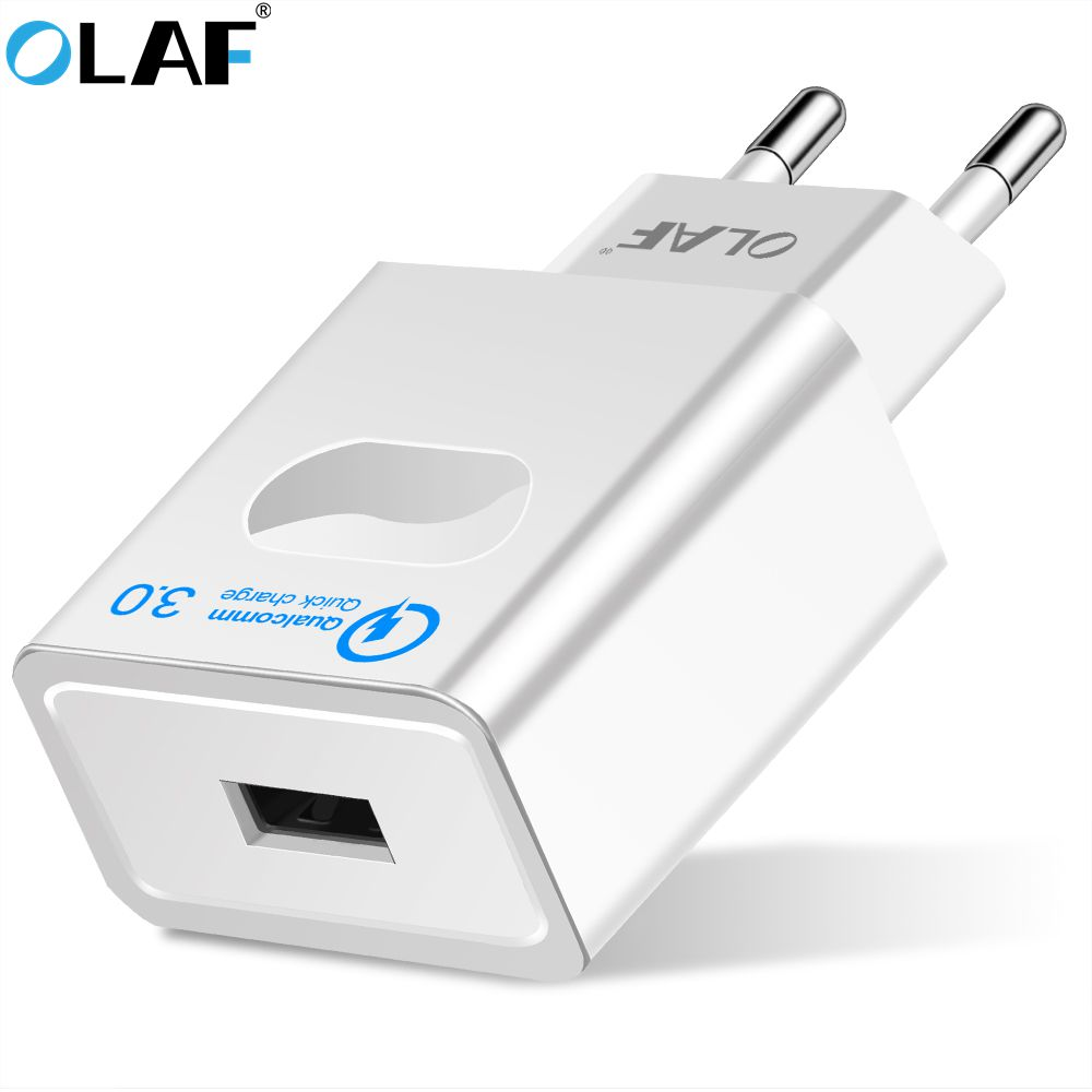 Olaf USB Charger 5V/3A Quick Charge 3.0 Travel wall Power Ad