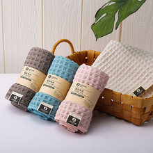 Absorbent Towel Microfiber Refreshing Cotton Fashion Strong Soft Gauze Lattice Skin-Friendly