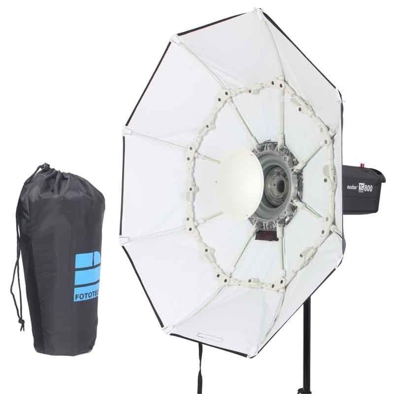 100 cm blanc Portable pliable plat de beauté octogone Softbox Bowens mont pour Bowens mont Godox Studio Flash