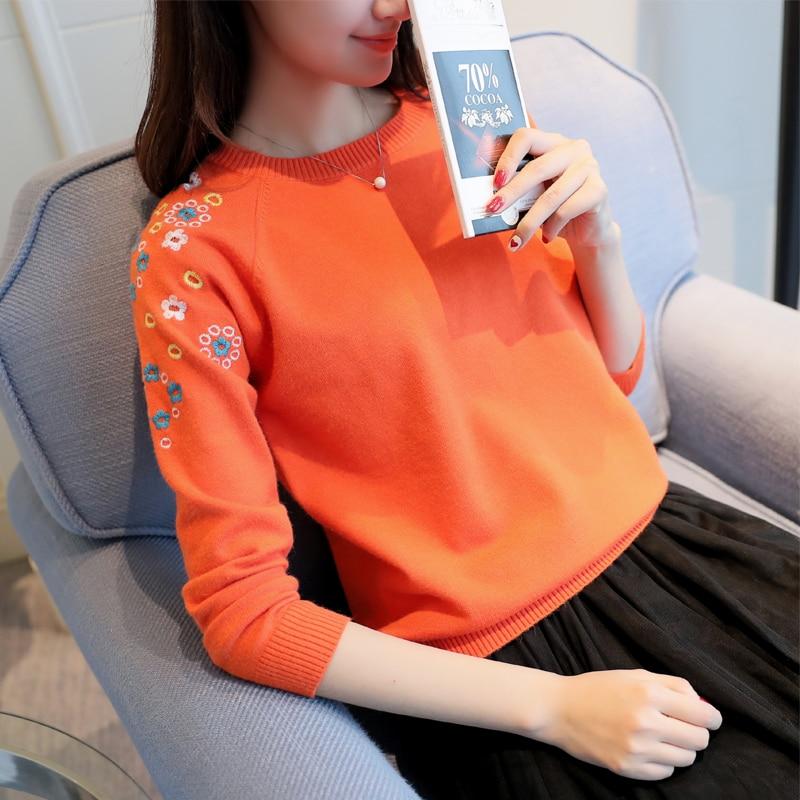 OHCLOTHING 2017 suéter bordado cabeza femenina establece nueva primavera camisa