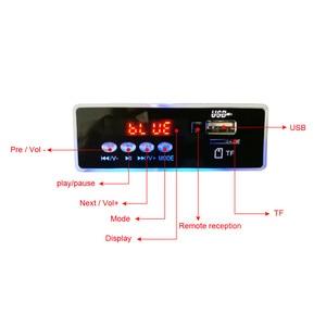 Image 2 - AIYIMA MP3 Decoder Audio Board Musik Player Blau Led anzeige 5W * 2 Verstärker Bluetooth Dekodierung AUX USB SD karte FM Radio