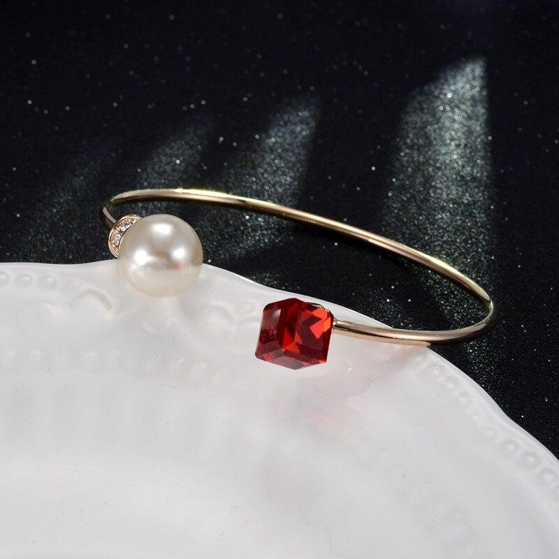 Kpop luxury crystal cuff bracelet/korean elegant women cristal pulseiras wholesale/bijoux femme/pulseras/braslet/braccialetti