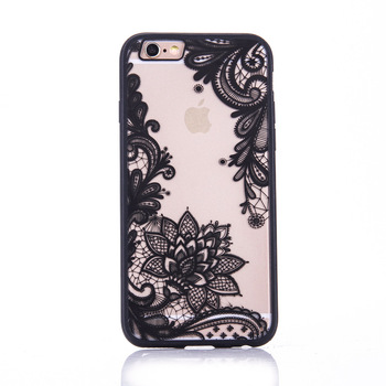 Floral Sexy Lace Mandala Case For iPhone 7 Plus Fashion Vintage Flower Clear Cover For iPhone 5 5S SE 6 6S Plus Phone Capa Back iPhone