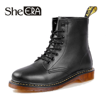 Брендовые мужские ботинки Martens, кожаная зимняя теплая обувь, мотоциклетные мужские ботильоны, doc martins, осенние мужские оксфорды