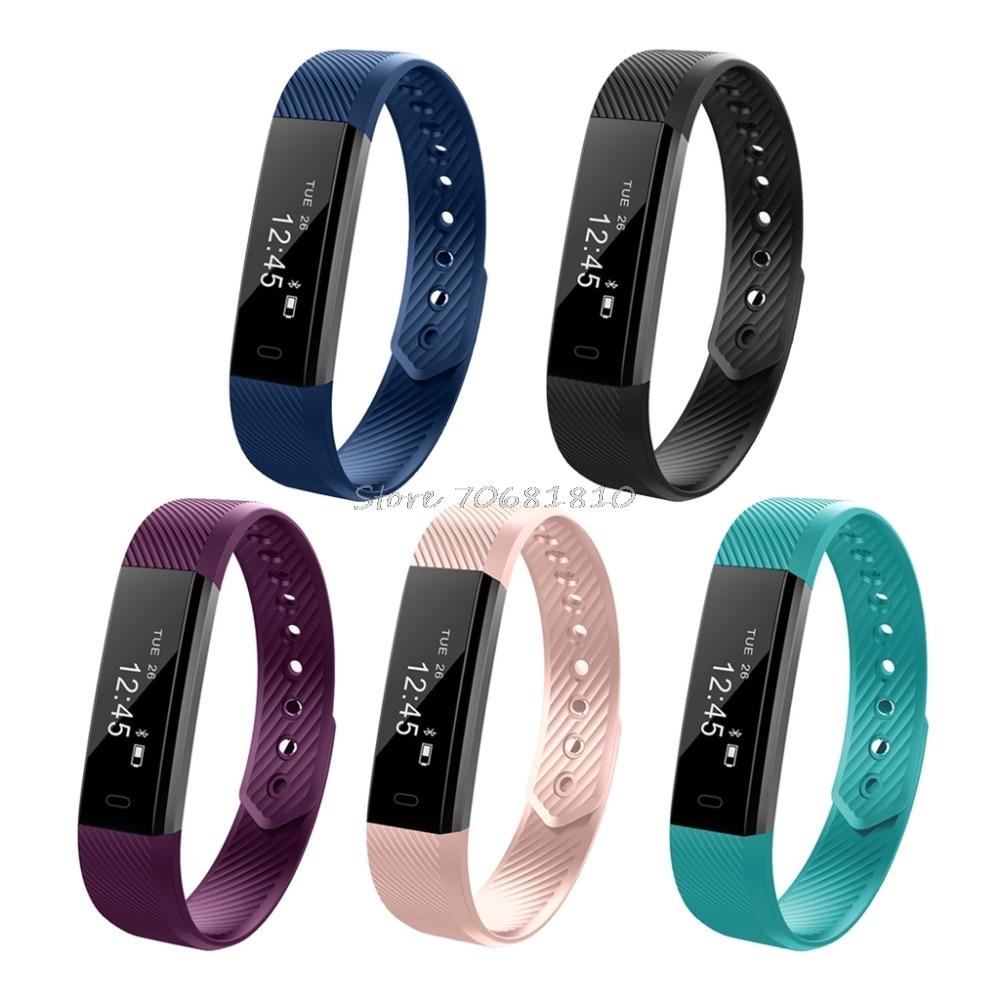 For ID 115 Smart Bracelet FitnessTracker StepCounter Bluetooth 4 0 Alarm Clock VibrationWristband Watchfor IOS Android