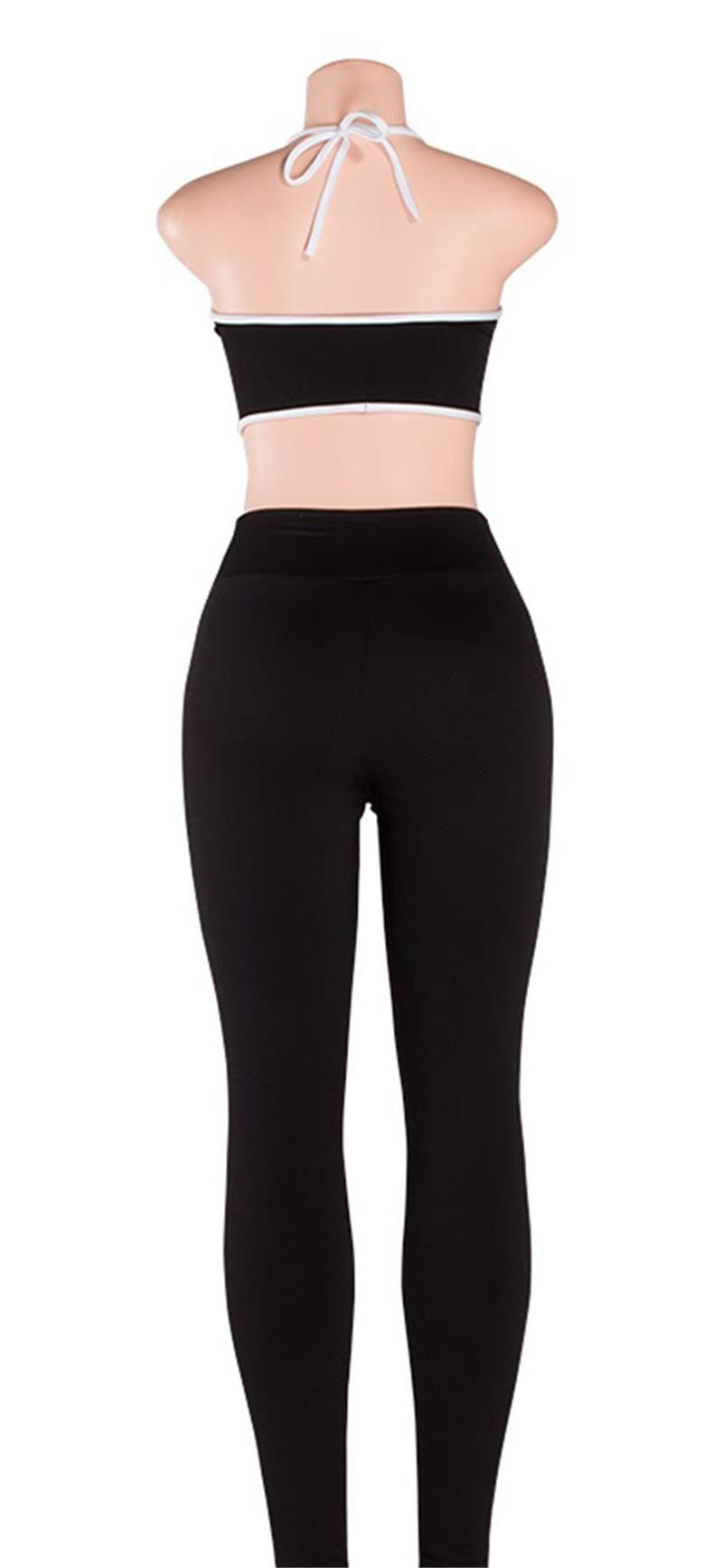 f3f979af13c22 Ceremokiss 2Pcs Women Yoga Sets Fitness Halter Bra+Pants Leggings ...