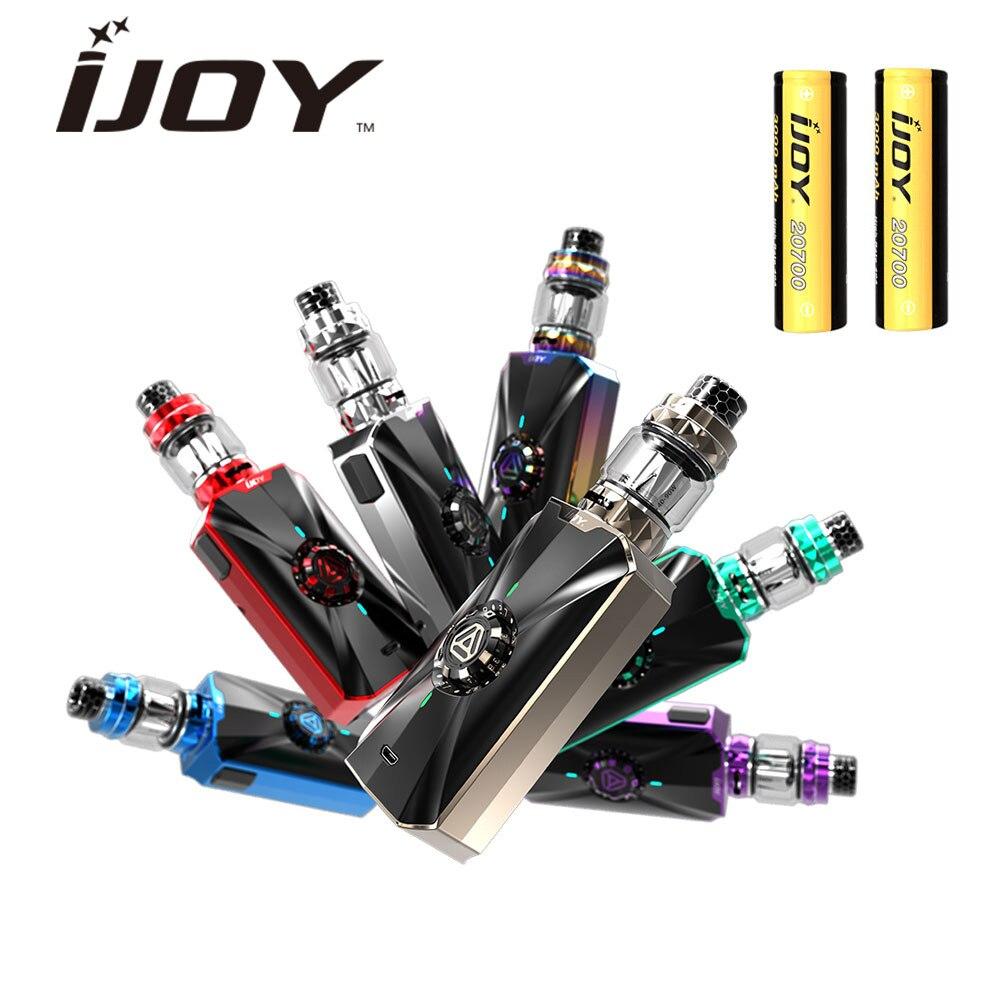 100% D'origine IJOY Zénith 3 VV Kit 360 W Mod avec Diamant Subohm Réservoir 5.5 ml/4 ml & double 20700 Batterie & DM-MESH/DM Bobine Vaporisateur Kit